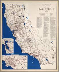Map Of California And Mexico by Road Map Of The State Of California 1948 David Rumsey