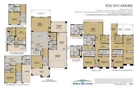 Garage Loft Floor Plans The Sycamore Floor Plans William Ryan Homes