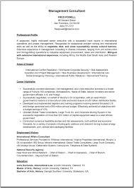 Management Consulting Resume Management Consultants Resume Sales Management Lewesmr