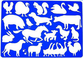 amazon farm animals drawing drafting template stencil arts