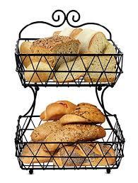 metal fruit basket esylife 2 tier removable metal fruit basket stand wire