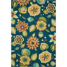 Loloi Outdoor Rugs Loloi Sonata Blue Floral 5ft X 7ft Outdoor Washable Rug Found At