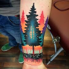 cool abstract trees on forearm