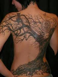 awesome full back tree and owl tattoo design tattoobite com