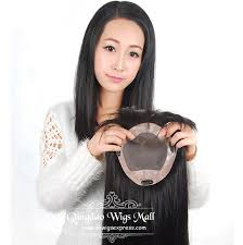 human hair wiglets for thinning hair indian remy hair fine mono base human hair toppers wiglets for