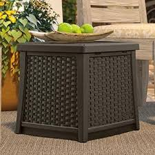 outdoor coffee table with storage amazon com suncast elements coffee table with storage java