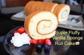 how to make super soft vanilla sponge roll cake 超軟蛋糕卷 燙麵