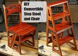 diy convertible step stool and chair the prepared page