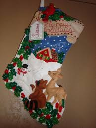 woodland holidays bucilla stocking kit genevieve i u003c3