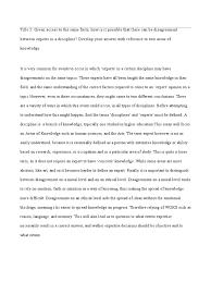 tok sample essays tok essay draft 1 expert reason