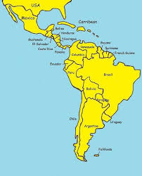 map of central and south america with country names central and south america downroute net