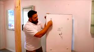 install bathroom light led illuminated mirror with aluminum frame diy install video youtube