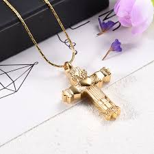 urn necklace for ashes cmj9956 high grade gold cross cremation pendant urn necklace for