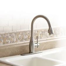 Aquasource Kitchen Faucet by Aquasource Brushed Nickel 1 Handle Pull Down Kitchen Faucet Good