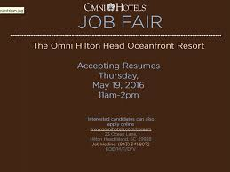 omni hilton head hotel hosting job fair wsav tv