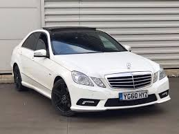 mercedes white 2010 60reg mercedes benz e class 2 1 e250 cdi blueefficiency sport