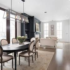 Black Oval Dining Room Table - linear dining room chandelier design ideas