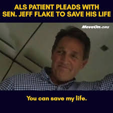 Flake Meme - moveon this als patient pleads with senator jeff flake