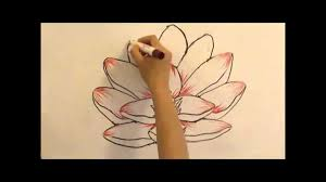 how to draw a lotus flower simple u0026 easy youtube