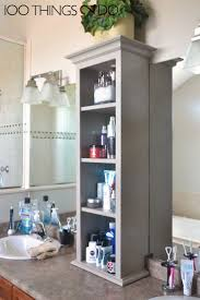White Bathroom Linen Tower - bathrooms design bathroom storage bathroom mirror with storage