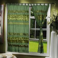 indian window curtains handmade silk valance curtains manufacturer