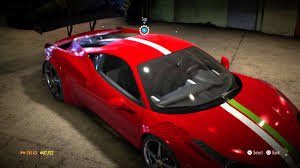 ferrari 458 back need for speed 2015 customization ferrari 458 italia youtube