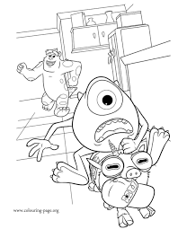 sulley coloring page monsters university archie mike and sulley coloring page