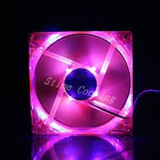 purple led lights for computers 10pcs lot pink case blue led light dc 12v 4pin 8cm 80x80x25mm