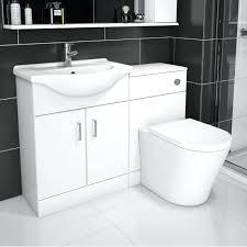 bathroom combination vanity units sienna arc white gloss unit