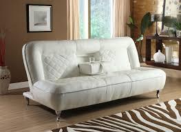 white leather futon sofa fdoc classic car seat inspired futon sofa convertible white faux