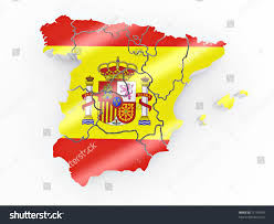 Picture Of Spain Flag Map Spain Spanish Flag Colors 3d Stock Illustration 71110930