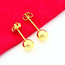 aliexpress buy new arrival fashion 24k gp gold aliexpress buy new fashion 24k gold color earring yellow