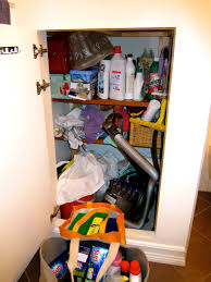 organizing cleaning supply closet in 5 minutes creative pink