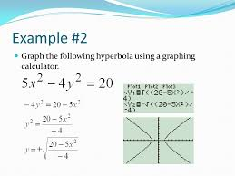 7 example 2 graph the following hyperbola using a graphing calculator
