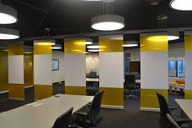frameless glass wall products hufcor arizona custom yellow and