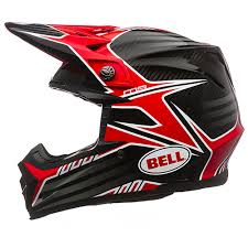 bell helmets motocross bell moto 9 carbon pinned motocross helmet red