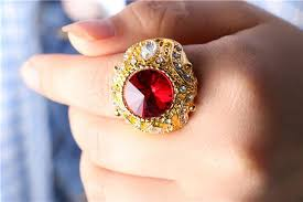 fashion gem rings images Brand crystal gem luxury fashion vogue king rings high quanlity jpg