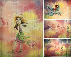 murals sillier than sally fine art and design sillier than sally colourful fairyland nursery wall mural pink fairies fairy village