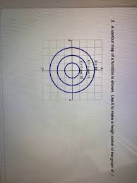 2 a contour map of a function is shown use it to chegg com