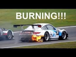 slammed porsche gt3 burning porsche 911 gt3 r 1000km nürburgring youtube