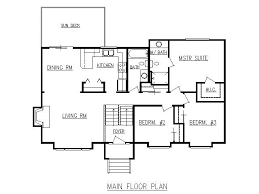 split level floor plans design lines inc plan 1728 split level