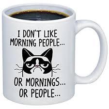 Morning People Meme - com funny grumpy cat mug i don t like morning people