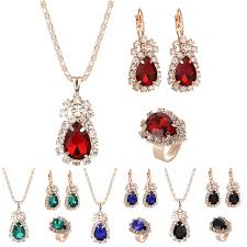 wedding gift necklace water drop shape earrings necklace fashion wedding gift