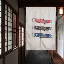 carp japanese room divider kitchen decoraive door curtains linen