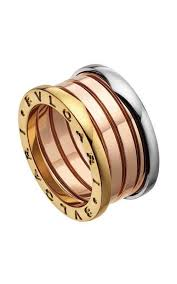 tricolor ring bulgari b zero1 4 band ring yellow pink and white gold an857650