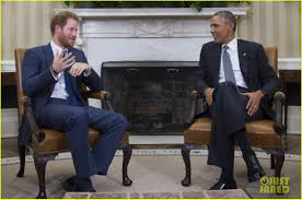 prince harry meets with president obama in the oval office photo