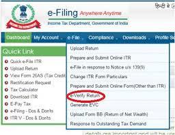 electronic verification code evc income tax returns