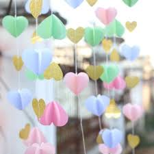 cheap garlands for weddings pink gold paper heart garland diy wedding curtain curtain
