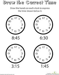 learn to tell time worksheets learning and math