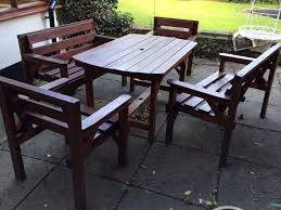 timber patio furniture set in norwich norfolk gumtree